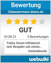 Bewertungen zu clabautermans-doens.de