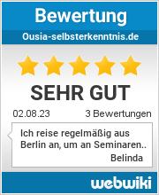 Bewertungen zu ousia-selbsterkenntnis.de