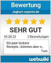 Bewertungen zu joghurt-experte.de