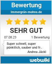 Bewertungen zu immergrün-mohns.de