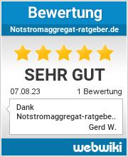 Bewertungen zu notstromaggregat-ratgeber.de