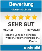Bewertungen zu modern-art24.ch
