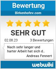 Bewertungen zu birkenhofev.com