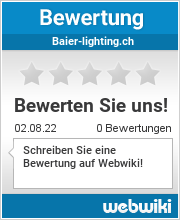 Bewertungen zu baier-lighting.ch