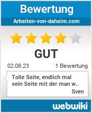 Bewertungen zu arbeiten-von-daheim.com