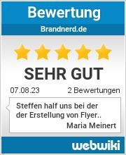 Bewertungen zu brandnerd.de
