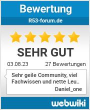 Bewertungen zu r53-forum.de