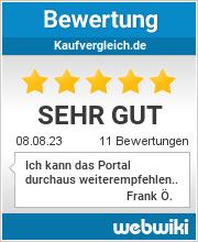 Bewertungen zu kaufvergleich.de