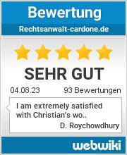 Bewertungen zu rechtsanwalt-cardone.de
