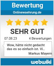 Bewertungen zu onlinewaehrung.de