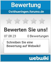 Bewertungen zu ostthueringen.forumo.de