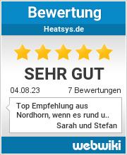 Bewertungen zu heatsys.de