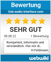 Bewertungen zu usb-audio-interface.com