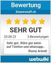 Bewertungen zu steamstuff.ch