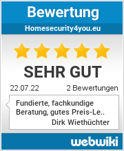 Bewertungen zu homesecurity4you.eu