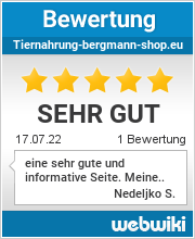 Bewertungen zu tiernahrung-bergmann-shop.eu