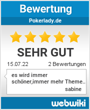 Bewertungen zu pokerlady.de