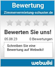 Bewertungen zu zimmervermietung-schuster.de