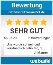 Bewertungen zu datenschutzanwalt24.de