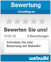 Bewertungen zu lhcoding.eu