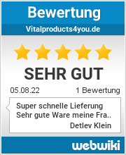 Bewertungen zu vitalproducts4you.de