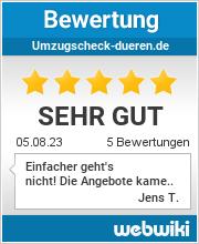 Bewertungen zu umzugscheck-dueren.de