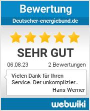 Bewertungen zu deutscher-energiebund.de