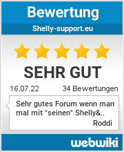 Bewertungen zu shelly-support.eu