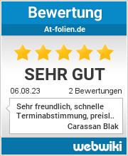 Bewertungen zu at-folien.de