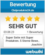 Bewertungen zu cbdprodukte24.de