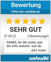 Bewertungen zu hilfe-bei-candida.de