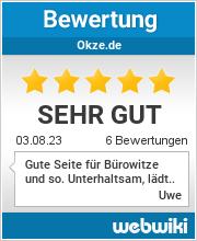 Bewertungen zu okze.de