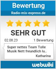 Bewertungen zu radio-mix-express.de