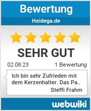 Bewertungen zu heidega.de