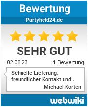 Bewertungen zu partyheld24.de