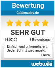 Bewertungen zu cablecaddy.de