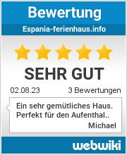Bewertungen zu espania-ferienhaus.info