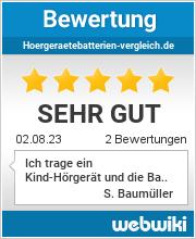 Bewertungen zu hoergeraetebatterien-vergleich.de