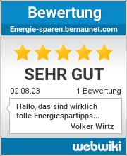 Bewertungen zu energie-sparen.bernaunet.com