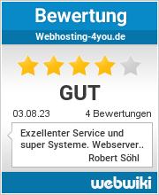 Bewertungen zu webhosting-4you.de