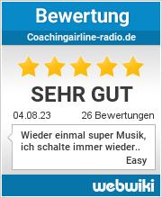Bewertungen zu coachingairline-radio.de
