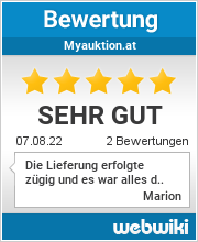 Bewertungen zu myauktion.at