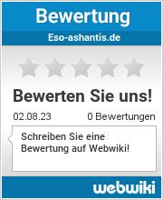 Bewertungen zu eso-ashantis.de