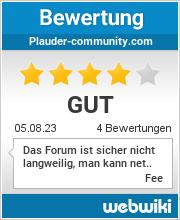 Bewertungen zu plauder-community.com