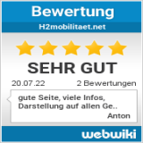 Bewertungen zu h2mobilitaet.net