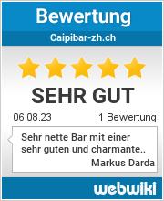 Bewertungen zu caipibar-zh.ch