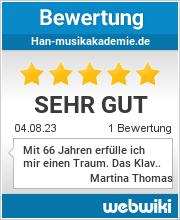 Bewertungen zu han-musikakademie.de