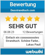 Bewertungen zu dasstrandtuch.com
