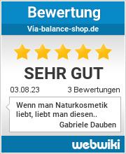 Bewertungen zu via-balance-shop.de