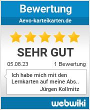 Bewertungen zu aevo-karteikarten.de